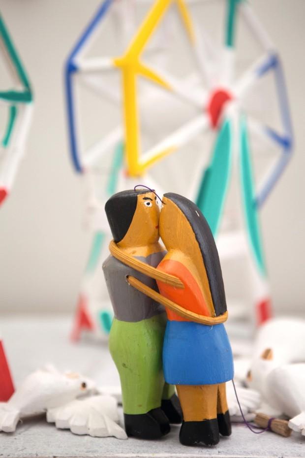Namoradeiros com 15 cm, os bonecos custam R$ 15 (Foto: Lufe Gomes / Editora Globo)