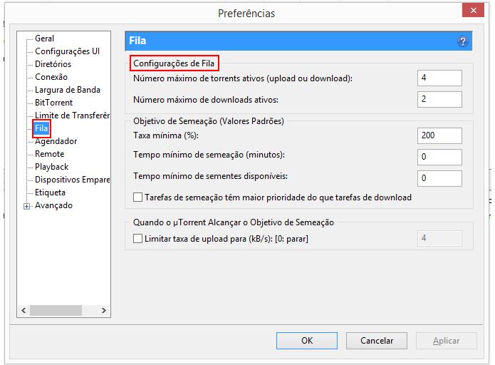Opção permite diminuir número de torrents baixados ao mesmo tempo (Foto: Reprodução/uTorrent)