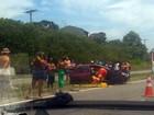 Acidente deixa motorista ferido na Rodovia do Sol, em Vila Velha, ES