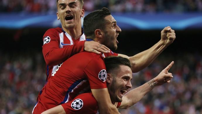 Saul, Atlético de Madrid x Bayern de Munique (Foto: Reuters)
