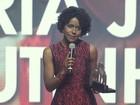 Maju, do 'Jornal Nacional', recebe prêmio em cerimônia no Rio