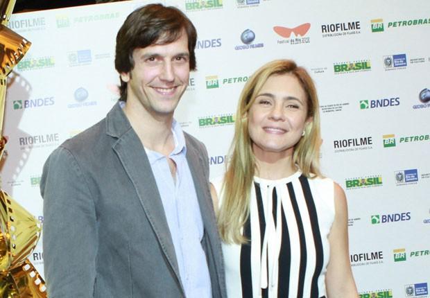 Vladimir Brichta e Adriana Esteves (Foto: Raphael Mesquita/Foto Rio News)