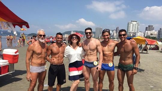 'Bonitões da Praia' de Santos arrasam no programa 'Mais Você'