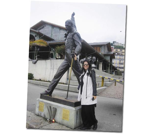 Freddie Mercury fez sua última música na cidade suíça (Foto: Arquivo Pessoal)