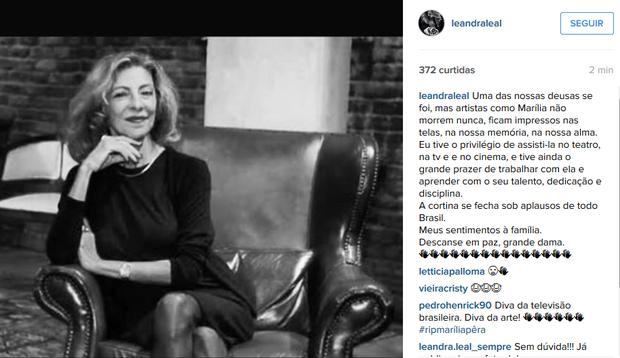 Leandra Leal (Foto: Instagram / Reprodução)