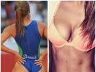 Khloe Kardashian se inspira em bumbum de atleta brasileira