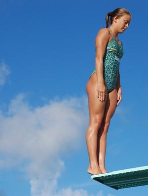 Luana Lira, atleta de Saltos Ornamentais (Foto: Lucas Barros / Globoesporte.com/pb)