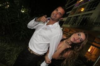 Latino e Rayanne Morais em festa no Rio (Foto: Rodrigo dos Anjos/ Ag. News)