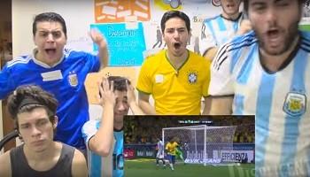 BLOG: Não chores por mim... Argentinos sofrem diante da televisão na derrota para o Brasil