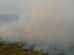 Oliveira, fogo, incêmdio (Foto: Marcelo Praxedes/Divulgação)