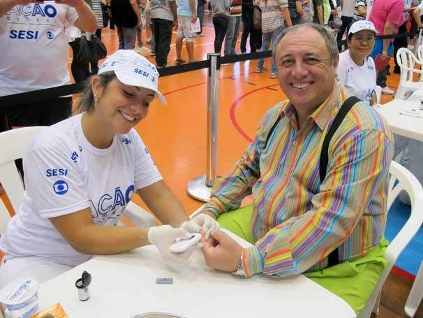 Ação Global em Osasco contou com a participação do ator Pedro Bismarck (Foto: Divulgação/Teresa Tavares)