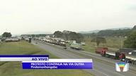 Concentração de caminhoneiros também é grande em Pinda