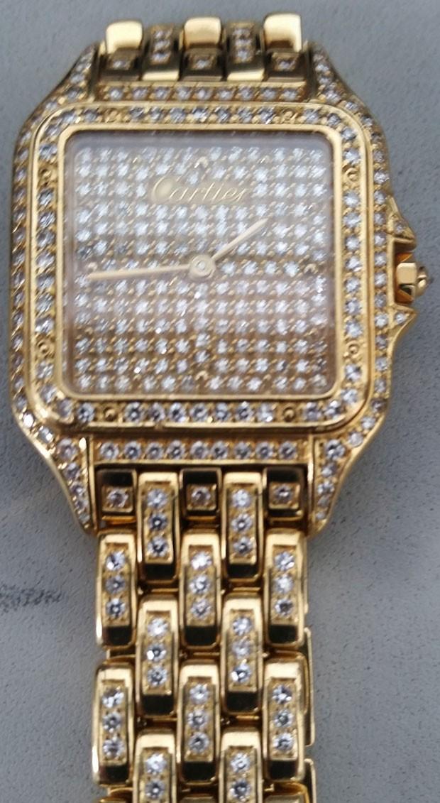 Milionário japonês esqueceu relógio de mais de US$ 100 mil em aeroporto nos EUA (Foto: Transportation Security Administration/AP)