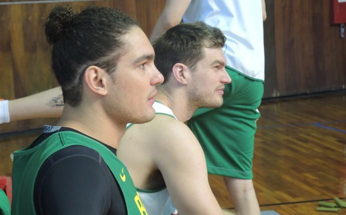 Tiago Splitter Anderson Varejão seleção brasileira basquete (Foto  David  Abramvezt) 77165bac18139