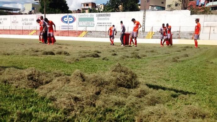 Treino jogadores Guarani-MG Divinópolis (Foto: Ricardo Welbert/GE)