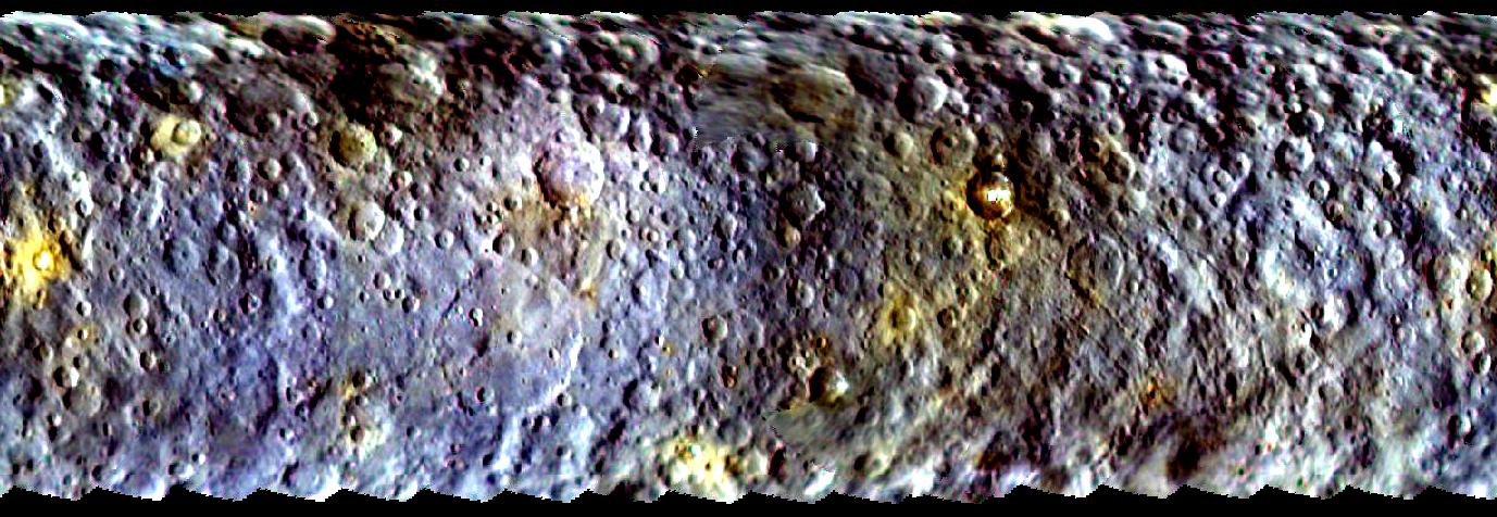 Imagem da Nasa mostra superfície do planeta Ceres em março deste ano (Foto: Nasa/JPL-Caltech/UCLA/MPS/DLR/IDA)