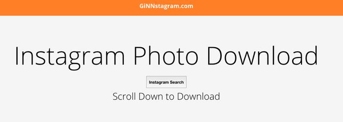 Use Ginnstagram e baixe fotos do Instagram (Foto: Reprodução/Ginnstagram)