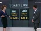 Juros do cartão de crédito sobem para 486,8% ao ano  (Globonews)
