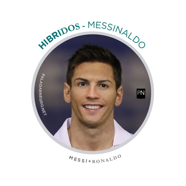 Messinaldo, mistura de Messi com Cristiano Ronaldo