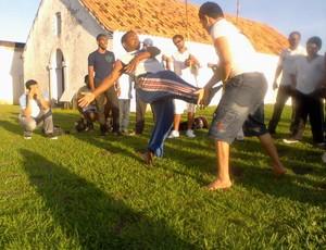 Intercâmbio de capoeira celebra cultura africana no Amapá (Foto: Cassio Albuquerque/GE-AP)