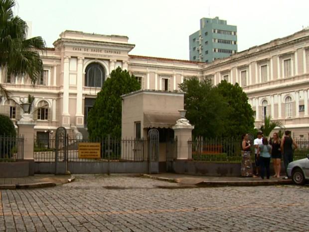 Casa  de Saúde de Campinas onde morreu David Ryan Fernandes   (Foto: Reprodução EPTV)