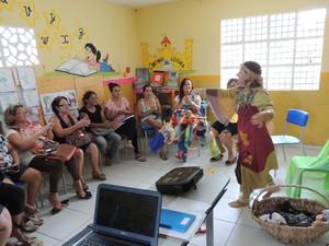 Oficina ensina técnicas lúdicas para serem usadas em sala de aula. (Foto: Genilson Geraldo/Acervo FMA)