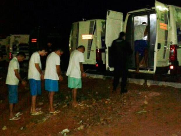 Presos foram transferidos de Alcaçuz para Caicó (Foto: Sérgio Costa/Portal BO)