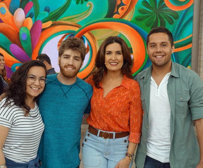 Mais convidados do programa nos bastidores  (Foto: Vinícius Cunha/Gshow)
