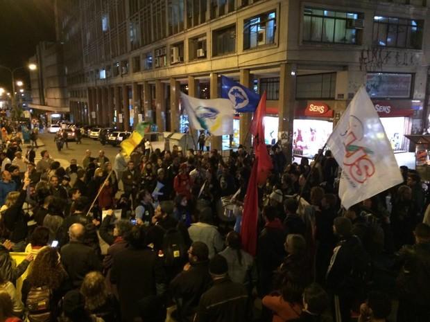 protesto, centro, porto alegre, rs (Foto: Hygino Vasconcellos/G1 RS)