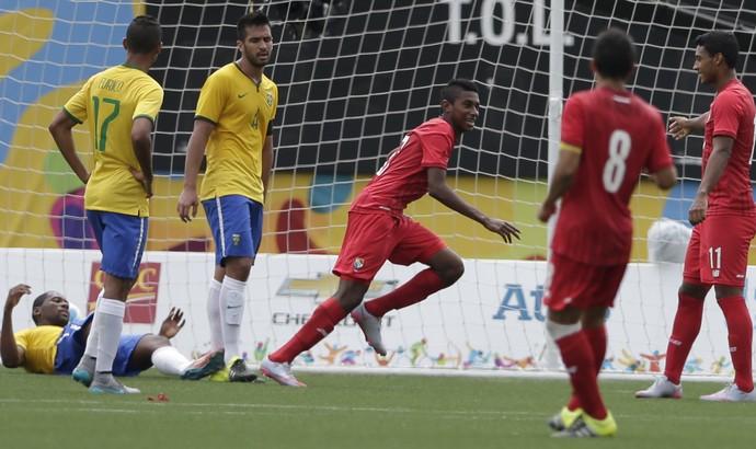 Brasil Pan Toronto Brasil Futebol (Foto: Gregory Bull/AP)