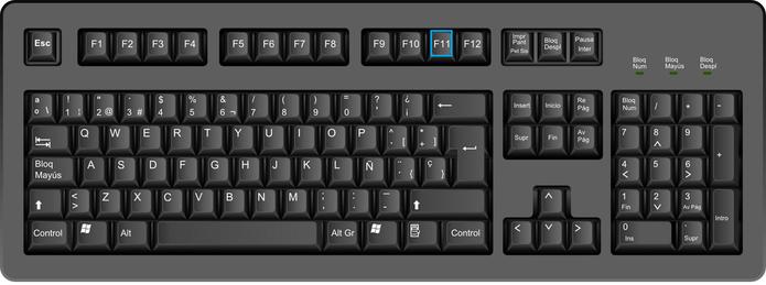 F11 coloca os programas em tela cheia (Foto: Arte/TechTudo)