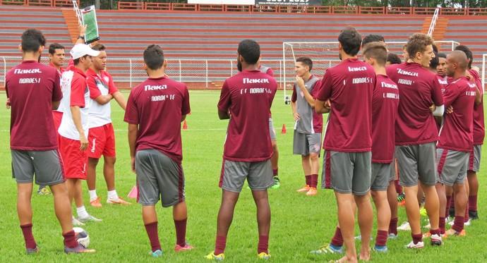 Noroeste, treino, interinos, Élton Carvalho, Eduardo Guadagnucci (Foto: Bruno Freitas / Noroeste EC)