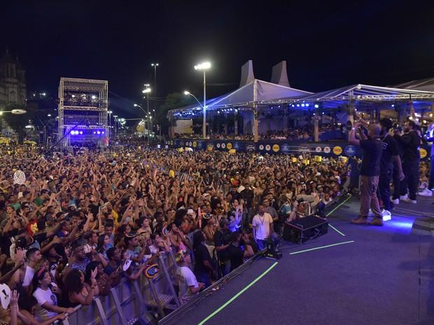 Show do Baiana System terminou por volta das 20h50 (Foto: Elias Dantas/Ag. Haack)