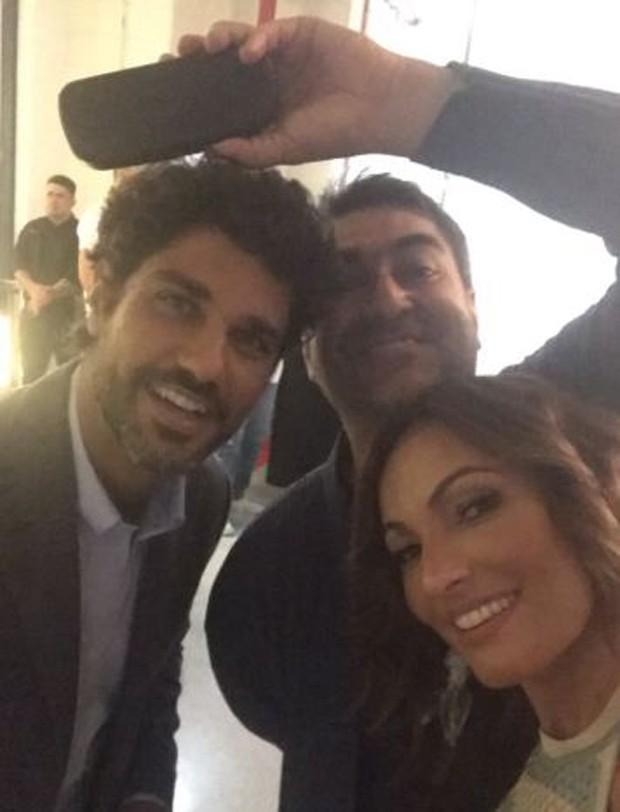 Bruno Cabrerizo, Zeca Camargo e Patrícia Poeta (Foto: Reprodução/Instagram)
