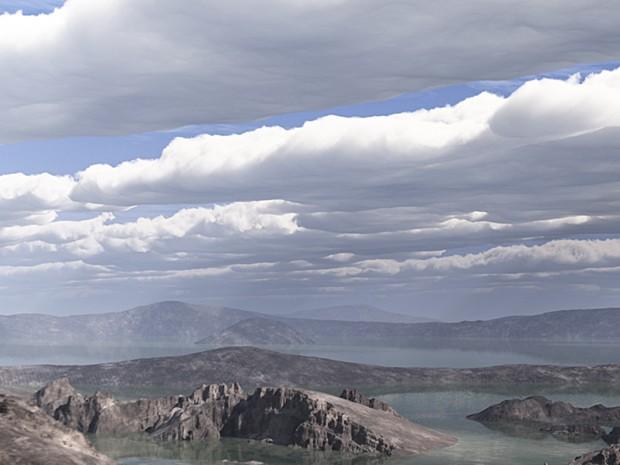 Vídeo simula como seria a superfície de Marte quando ele ainda era 'jovem' (Foto: Reprodução/YouTube/Nasa)