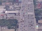 Chegada ao Rio provoca lentidão e engarrafamento na Ponte Rio-Niterói
