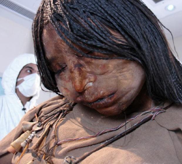 """Múmia conhecida como 'A Donzela"""" (Foto: Reprodução)"""