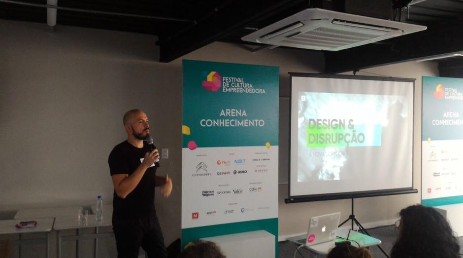 Leandro Herrera, da Tera, durante o Festival de Cultura Empreendedora (Foto: Filipe Oliveira)