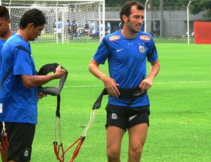 Edu Dracena santos treino (Foto: Marcelo Hazan)