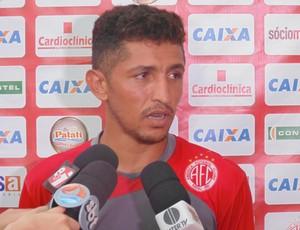 Thiago Potiguar - meia do América-RN (Foto: Carlos Arthur da Cruz/GloboEsporte.com)
