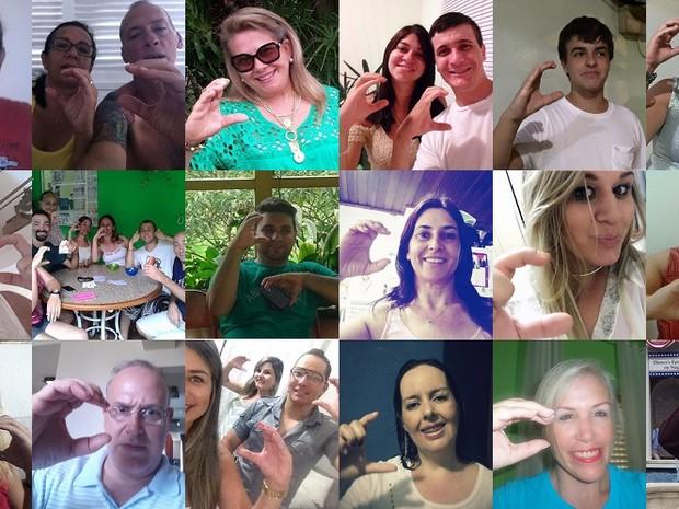 Campanha atraiu diversos adeptos (Foto: ONG C tem que curar/Divulgação)