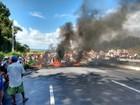 Trabalhadores rurais fazem protestos na Zona da Mata pernambucana