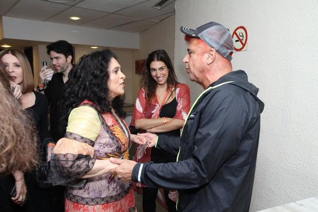 Gal Costa e Lulu Santos (Foto: Thyago Andrade / Brazil News)