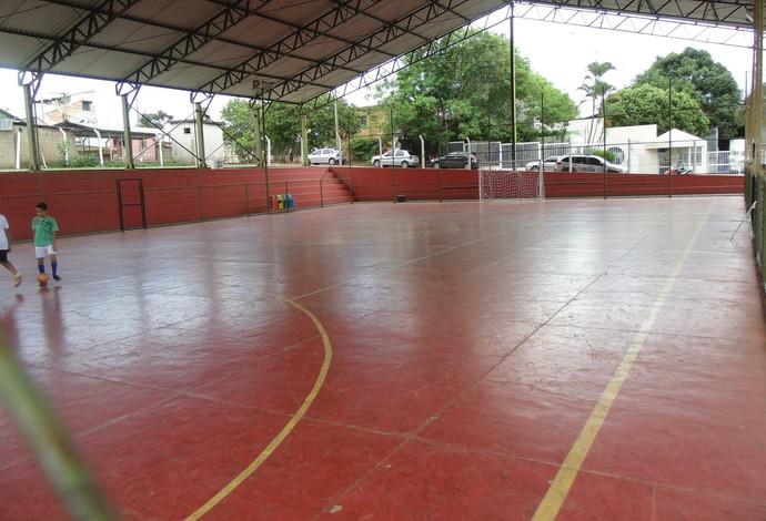 Quadra de escola no Chapadão será usada nos Jemg (Foto: Danielle Dias/Arquivo pessoal)