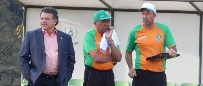 Alencar da Silveira Jr, Givanildo Oliveira e Cláudio Prates (Foto: Divulgação/América-MG)