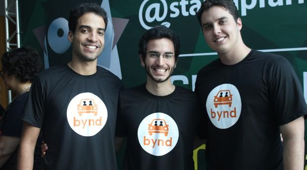 Leonardo Libório, Gustavo Gracitelli e Abraão Lacerda, do Bynd (Foto: Adriano Lira)