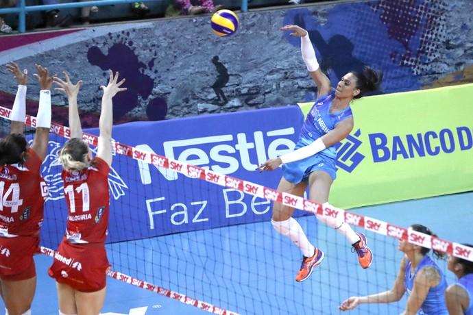 Osasco x Vôlei Bauru, Superliga feminina (Foto: Luiz Pires / Fotojump)