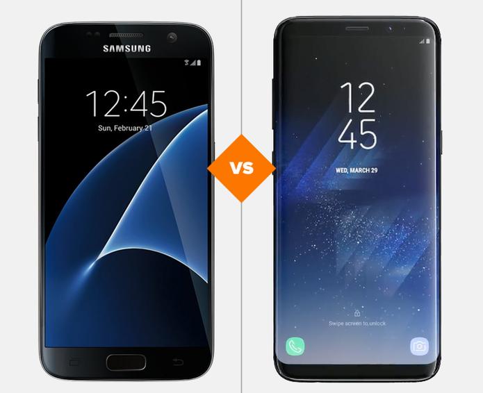 Galaxy S7 e Galaxy S8: veja o comparativo de ficha técnica (Foto: Arte/TechTudo)