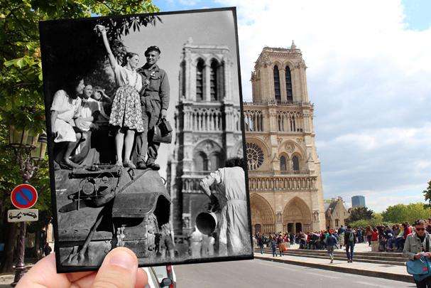 Notre Dame, 1944 (Foto: JULIEN KNEZ / GASTON PARIS / ROGER-VIOLLET)