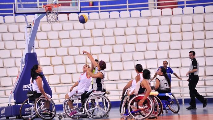 Brasileiro de basquete feminino de cadeira de rodas (Foto: Cleiton Viana/Sejel)